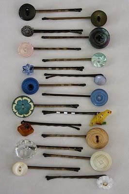 DIY button bobby pins