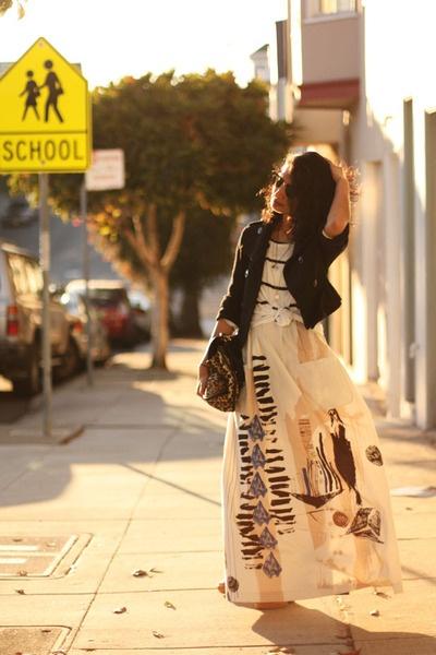 Long Pattern Skirt