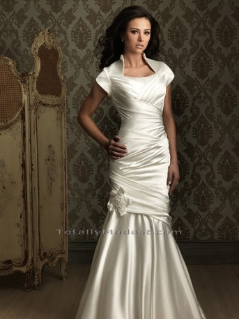 Sophisticated and Modest Wedding Gown