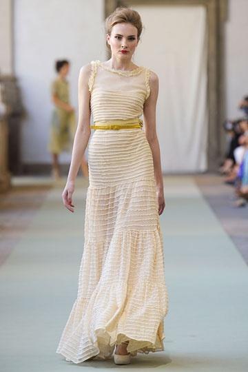 Lemon Ruffled Dress