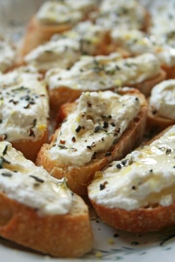 Lemon-Thyme Bruschetta Recipe