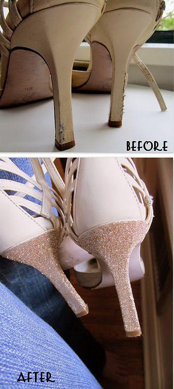 glittered heels
