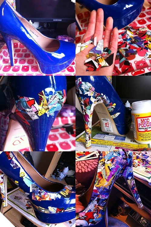 DIY Comic Book Heels