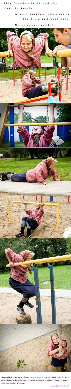 Russian Grandma Fitness