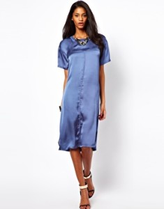ASOS Midi Dress In Washed Woven