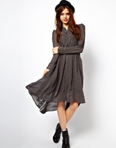ASOS Midi Dress With Victorian Detailing