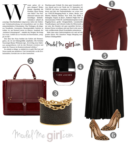 Style-It!-Burgundy-top-with-black-pleated-skirt---Model-Me-Girl