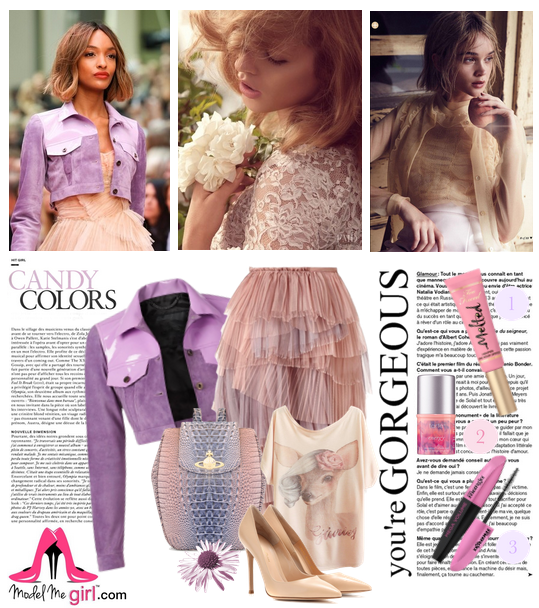 Suede and Tulle Candy Colors