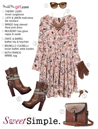 Sweet and Simple Floral Print Dress